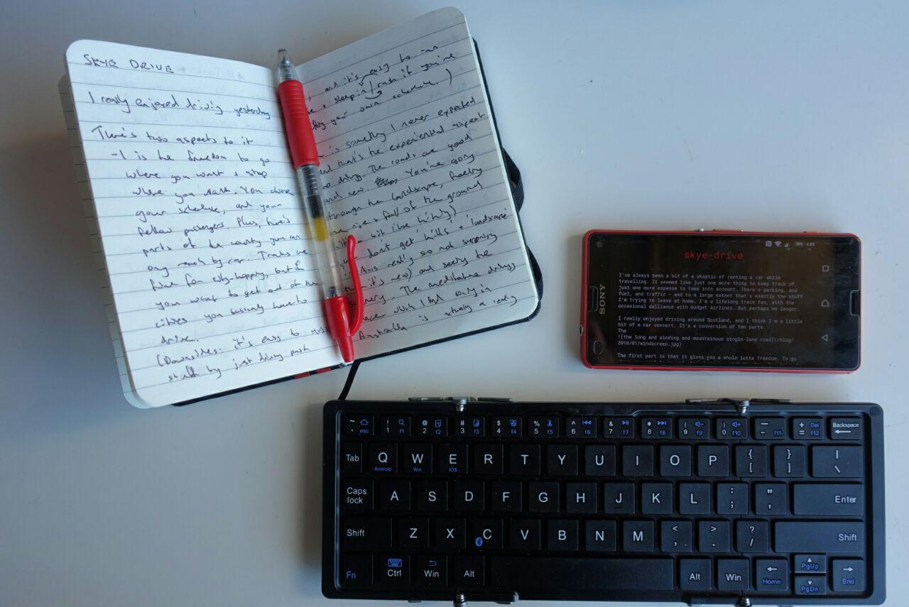 fold-out bluetooth keyboard