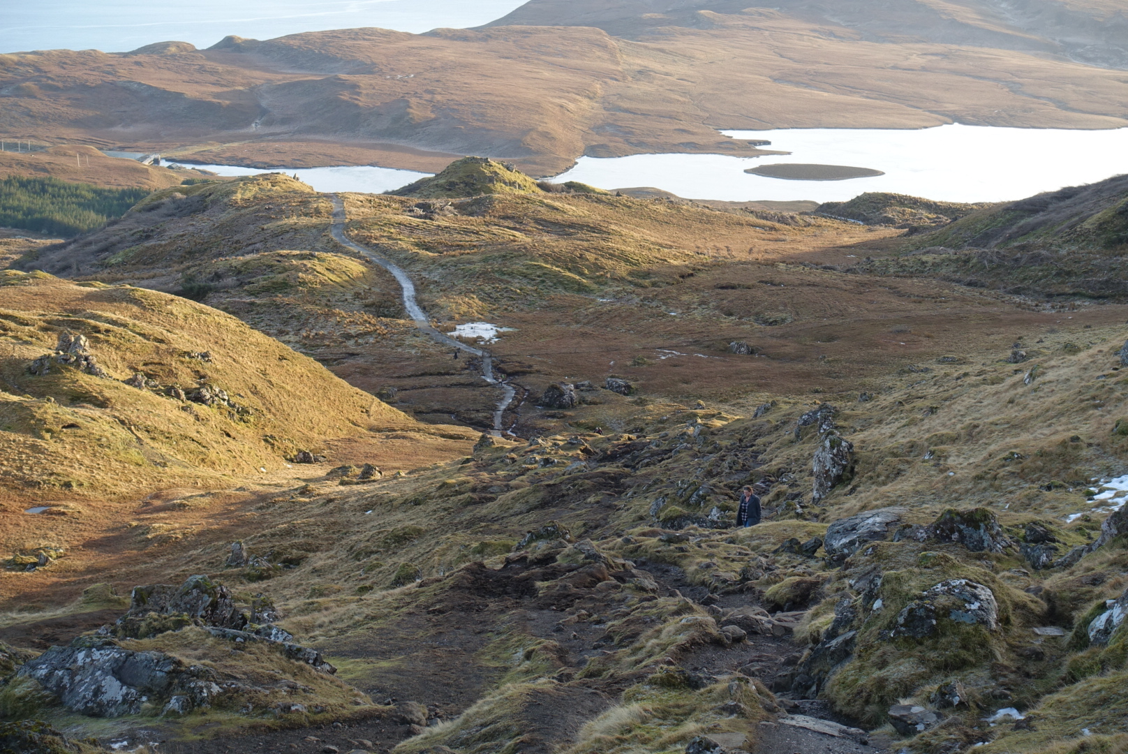 the  winding path up to the storr